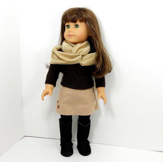 American girl doll clothes 3 piece set skirt top by MegOrisDolls,