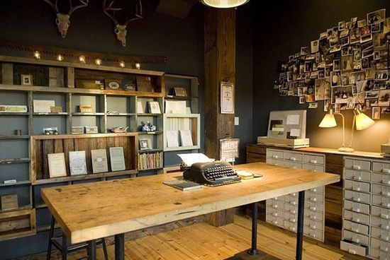 vintage workplace - would work in an 'old' industrial building, possibly...