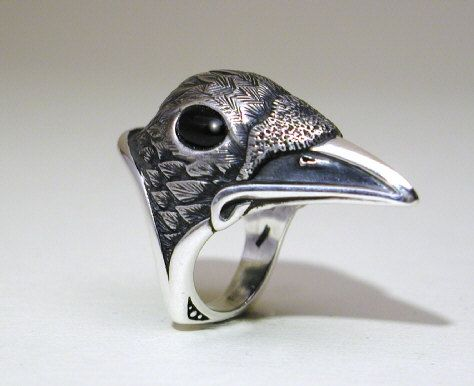 Raven Ring by StewartArt1 on Etsy, $255.00
