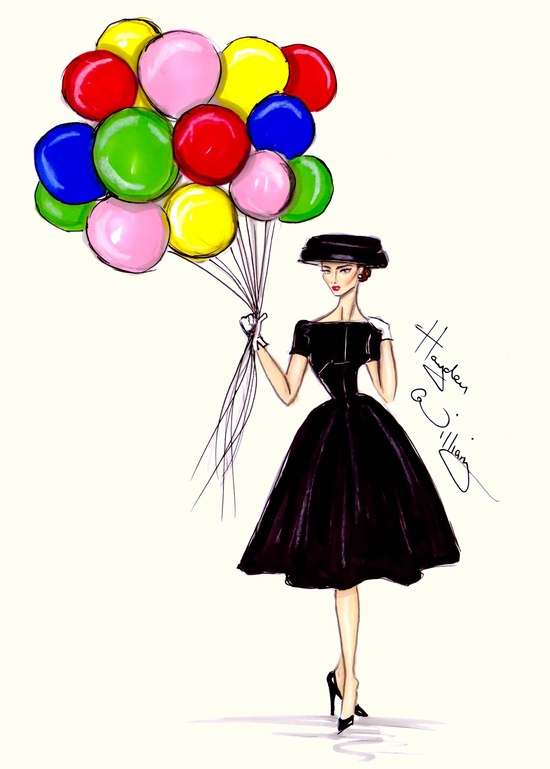 Hayden Williams Fashion Illustrations  'Funny Face' by Hayden Williams