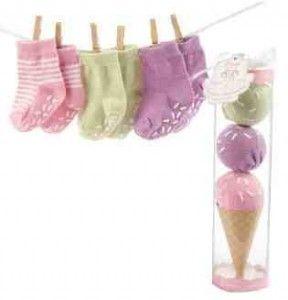 Super Cute Baby Socks Ice Cream Gift!