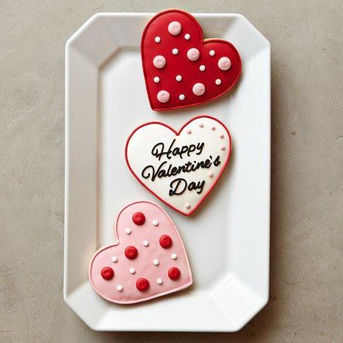 Valentine Heart Cookies, Set of 3