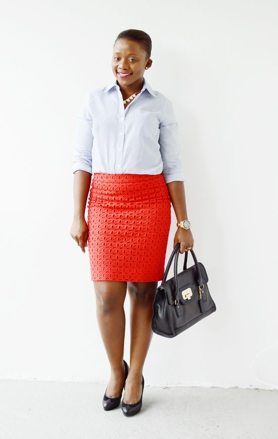 Work Outfit with Pencil Skirt