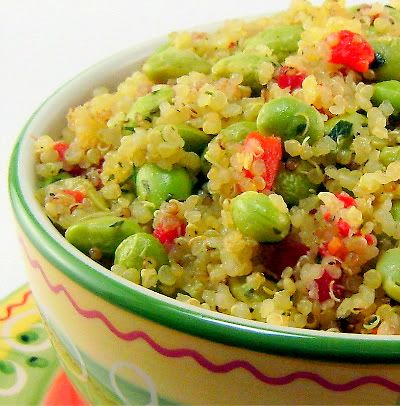 Warm Quinoa Salad with Edamame and Lemon-Tarragon Dressing