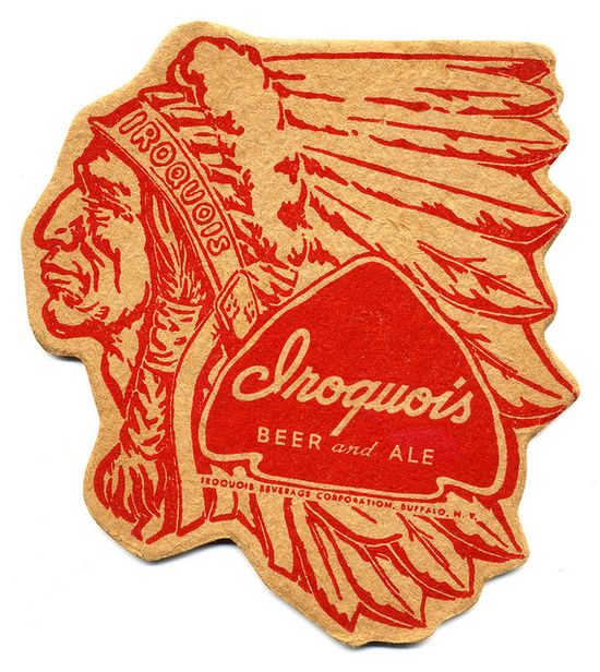 Iroquois Beer and Ale Coaster by Bart.