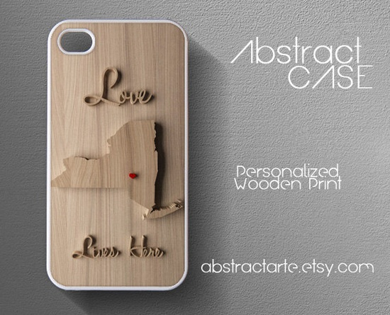 Personalised Wooden Print IPHONE 5 CASE - Iphone 4 Case - State Maps and Countries - iPhone 4 case,iPhone 4S case,iPhone case. $15.00, via Etsy.