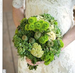 green bouquet might be cool...