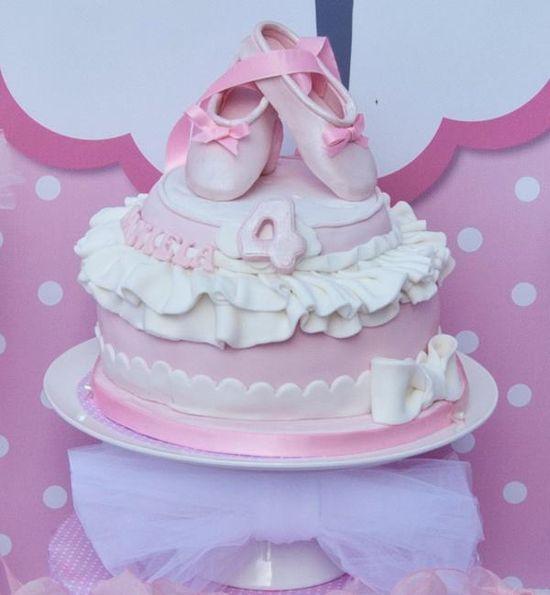 Pink Ballerina themed birthday party via Kara's Party Ideas. karaspartyideas.com #ballerina #girl #party #ideas