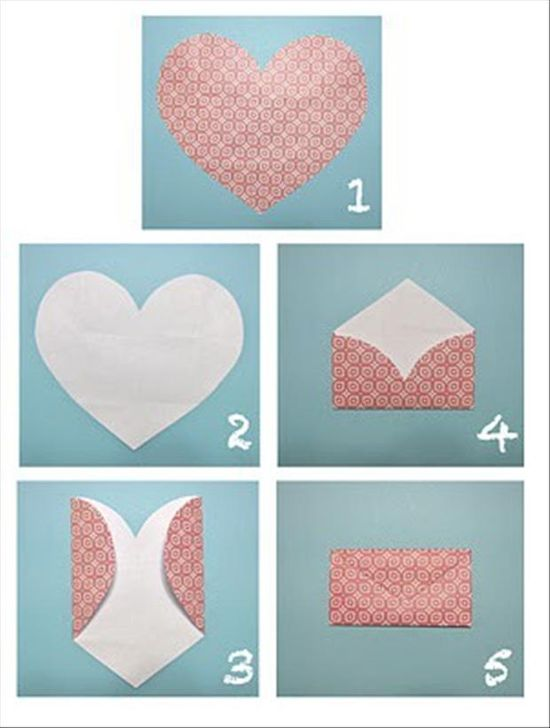 Направете сами плик-сърце за празника св. Валентин