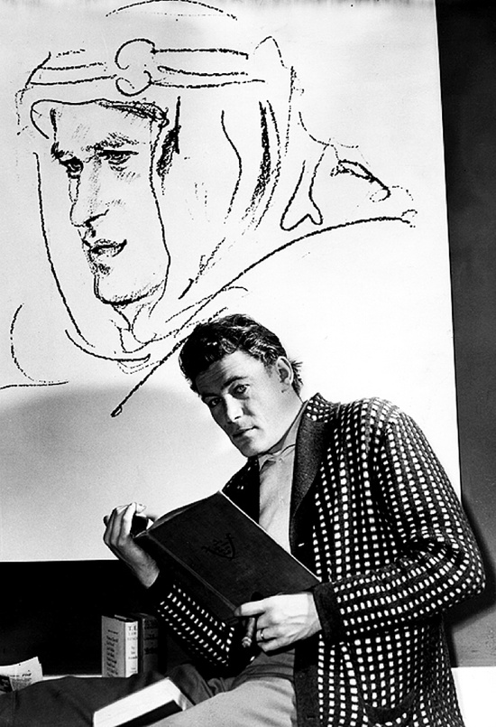 Peter O'Toole, 1961, photo by Dennis Oulds