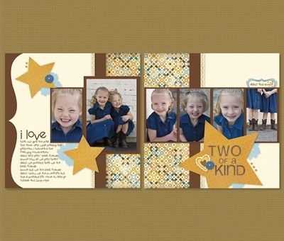 close to my heart double page scrapbook layout