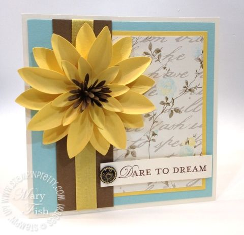 Stampin up blossom petal punch - Mary Fish