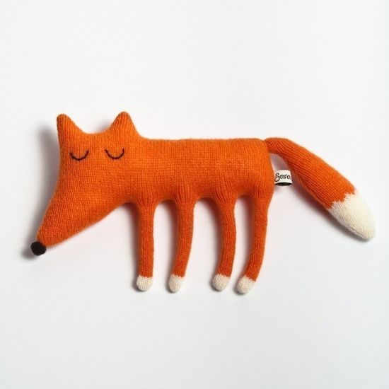 Monty the Sleepy Fox Lambswool Plush Toy  In stock by saracarr, $40.00