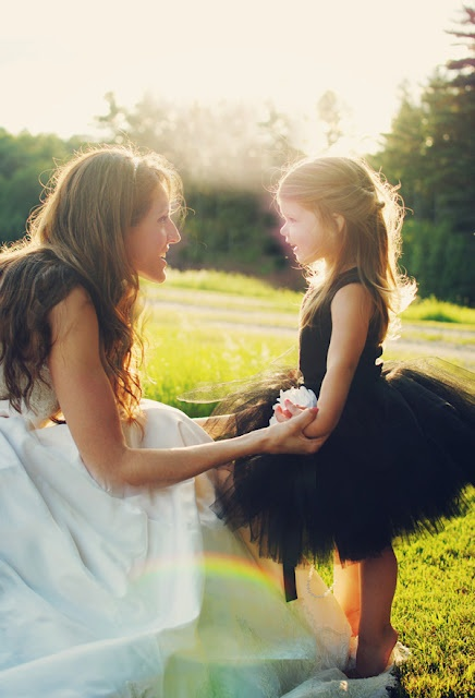 Instead of a flower girl dress, have a flower girl TuTu! I LOVE this idea because it's so much more playful, cheaper, and the flower girl can use it later.