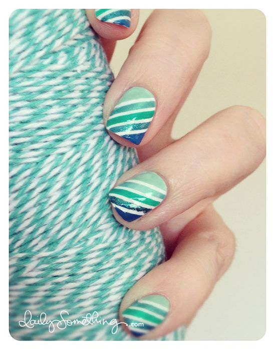 Stripe Ombre Nails