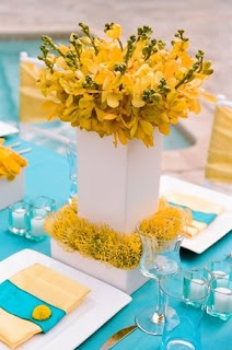 yellow Wedding ceremony flowers, wedding aisle décor, wedding flowers, add pic source on comment and we will update it. www.myfloweraffai... can create this beautiful wedding flower look.    JL DESIGNS: March 2008