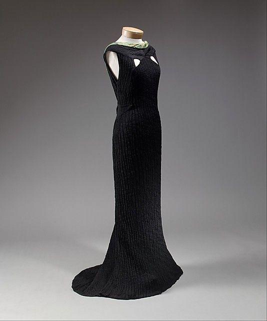 Schiaparelli Silk Dinner Dress, 1934