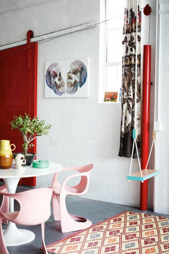 Pretty in pink chairs and a swing. The home of Kirri Jamison. Derek Swalwell.