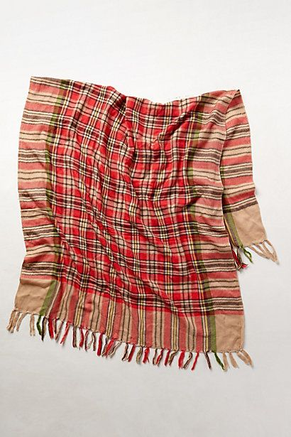 Plaid Picnic Scarf #anthropologie