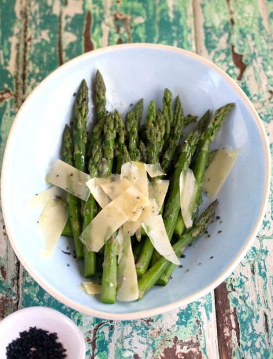 Asparagus with Parmesan and Black Sea Salt by drizzleanddrip #Asparagus