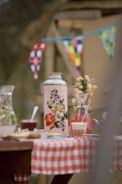 Lovely picnic in the garden