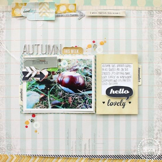 #scrapbooking page for #PinkPaislee using #Portfolio collection - created by Janna Werner