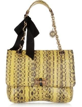 50 Dream Handbags: Lanvin Happy Elaphe Shoulder Bag, $2,585 #handbags, #handbags galore, #purse, #shoulder bag, #evening bag, #designer bags, #party bags, #tweet bag, #satchel
