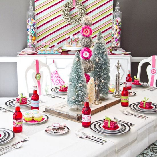Whimsical table decor ideas for holiday parties.