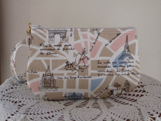 Wristlet Zipper Gadget Pouch Smart Phone Bag by Antiquebasketlady, $11.99