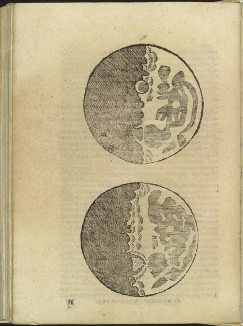 galileo's first drawing of the moon