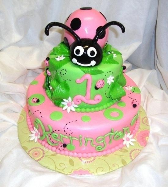 Little Miss Ladybug Cake