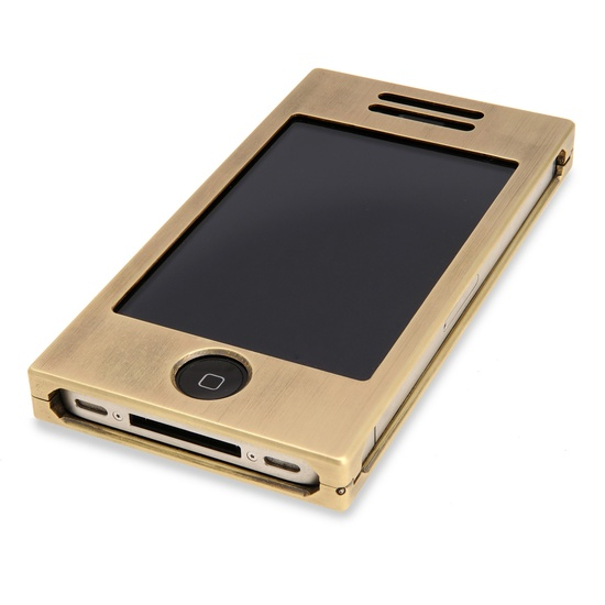 Solid Brass iPhone case with Bolivian Rosewood backside >> Awesome!