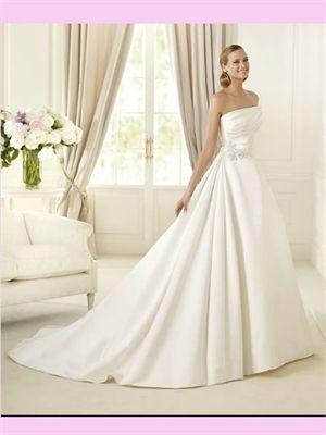 White Ball Beaded Satin #2013 #Wedding #Dress