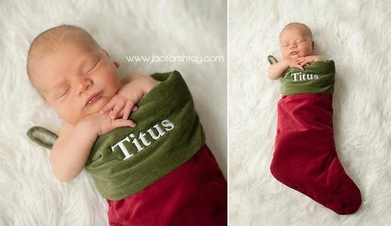 newborn in christmas stocking  :)