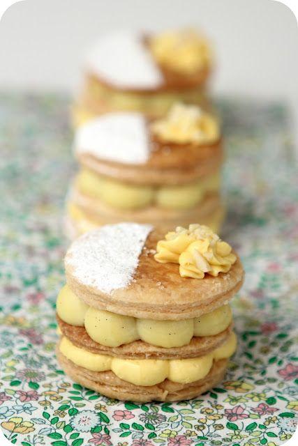 Beautifully elegant Passion Fruit Napoleons. #food #pastry #passion #fruit #Napoleons #dessert
