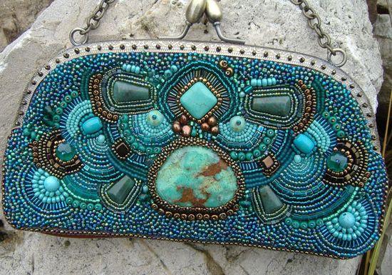 Turquoise bag.