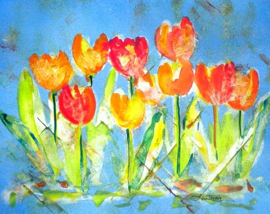colorful tulips #Etsy #Art #prints