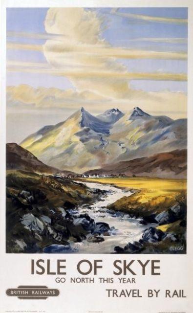 Isle of Skye Scotland Vintage Scottish Travel Poster