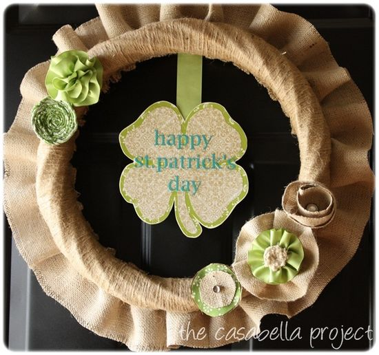 Cute st.pattys day wreath