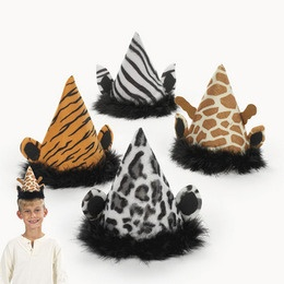 Animal Print Party Hats #animalprint #party #birthday