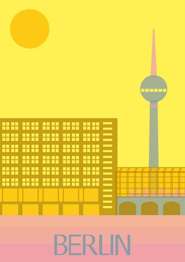 Berlin - #illustration #poster  - for more inspiration visit pinterest.com/...