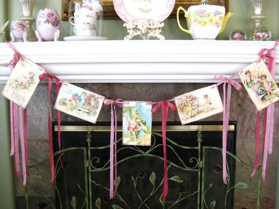 Romantic Valentine LOVE Garland Bunting Banner Vintage Style