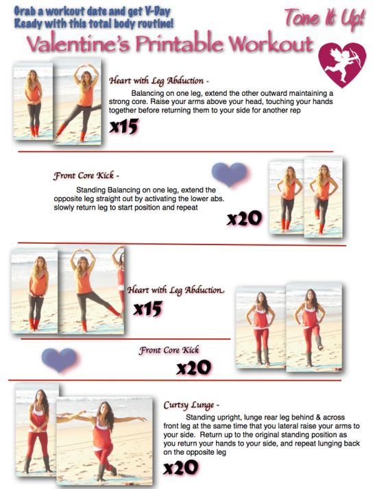 Sweet & Sexy Printable workout from Tone It Up!