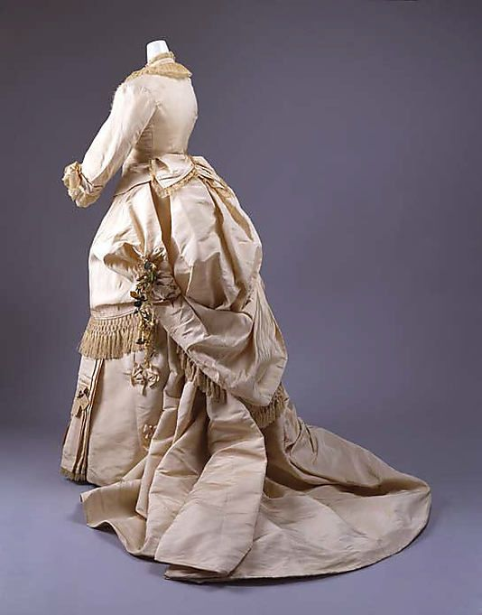 Wedding Dress  Mme. Fréderique   Date: ca. 1872 Culture: American Medium: silk