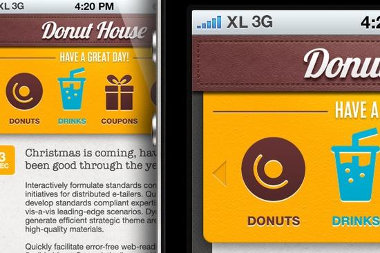 DonutHouse app mockup