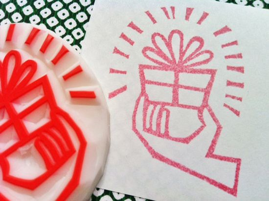 for you hand carved rubber stamp. handmade rubber stamp