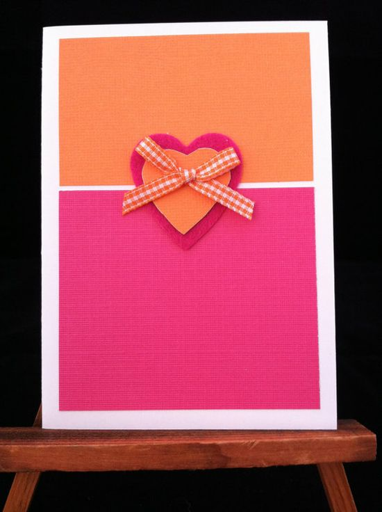 Handmade Valentine Card by ALoveofCrafts on Etsy, $2.99