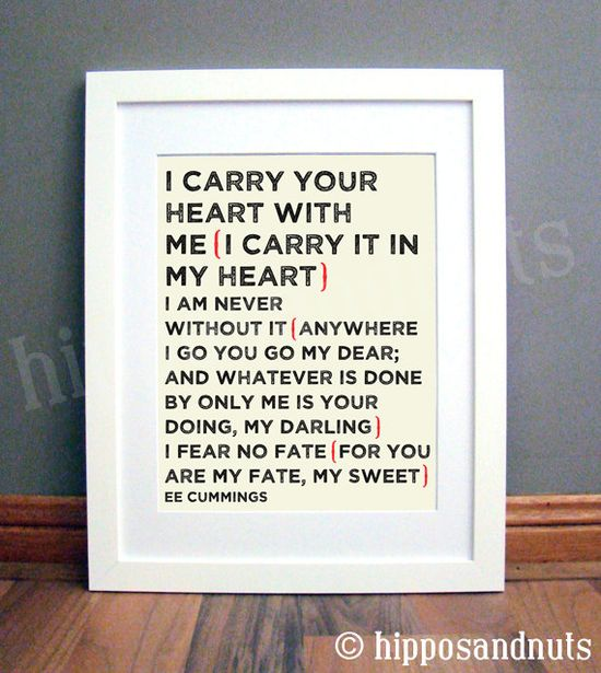 I Carry Your Heart