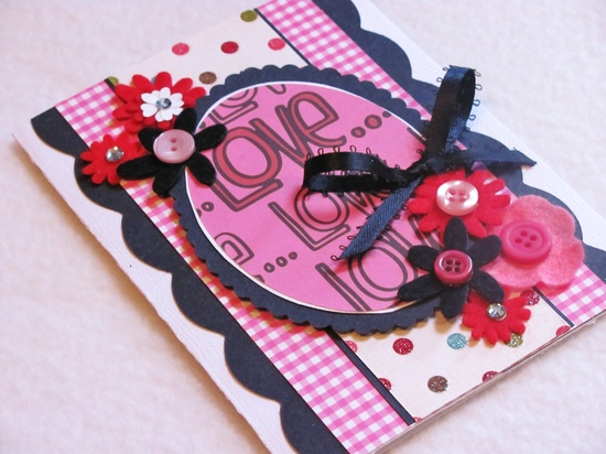 Love Handmade Valentine Card