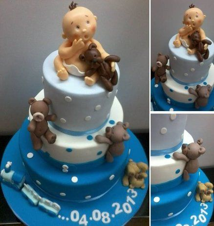 Baby boy Cake by Projectodoce
